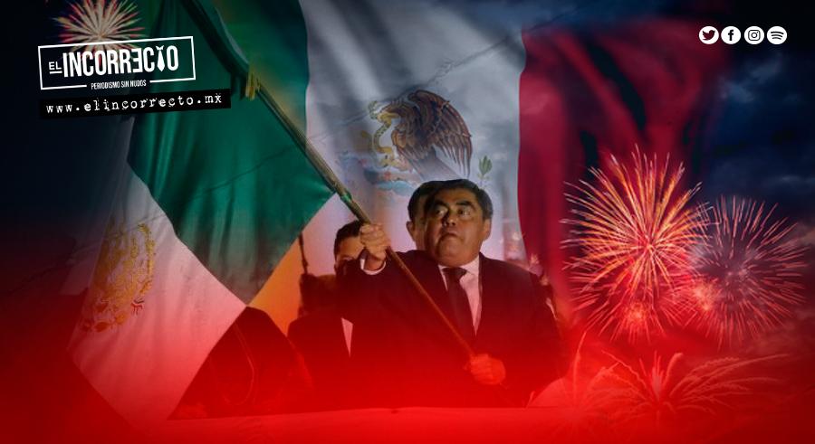 """Barbosa le dedica el Grito de Independencia al personal de la Salud en Puebla (CRÃ""""NICA)"""