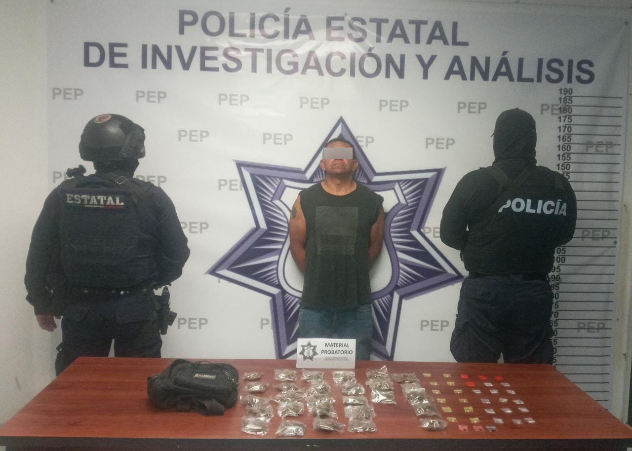 SSP detiene a narcovendedor con 60 dosis de droga