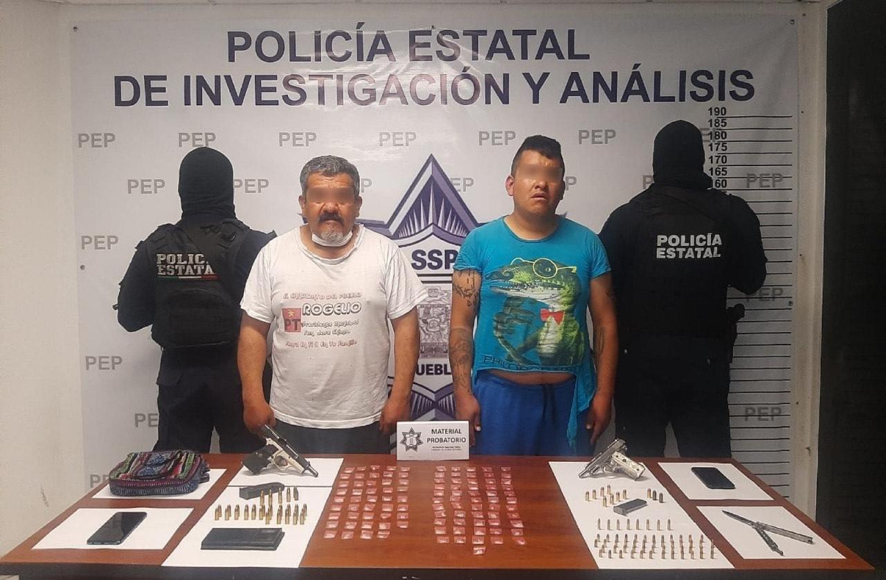 Detiene SSP a dos vendedores de armas con droga
