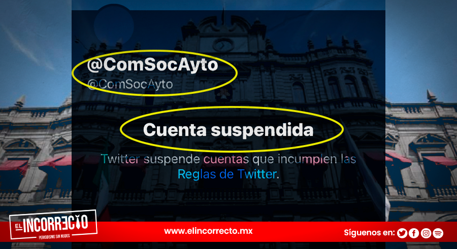 Suspenden cuenta de Twitter de Comunicación Social del Ayuntamiento de Puebla