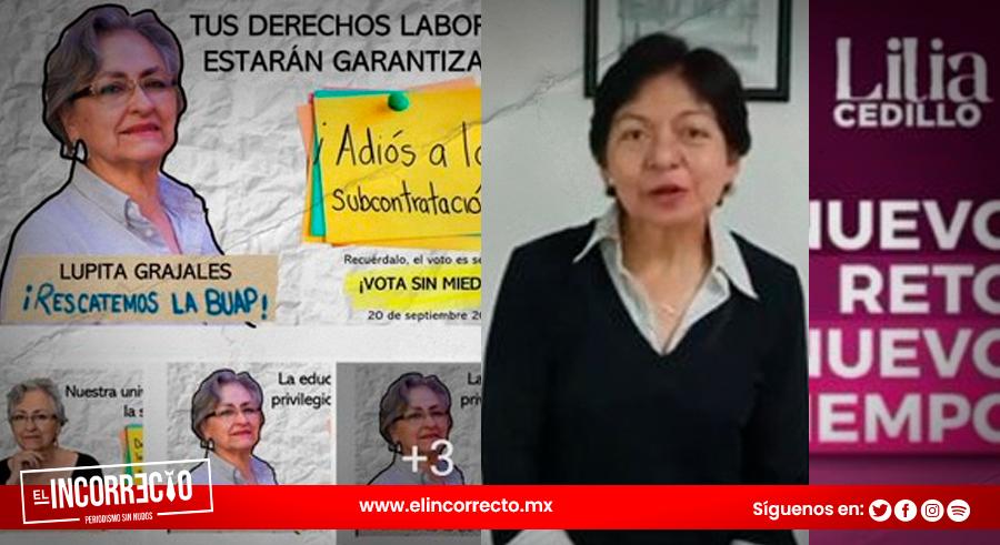 Lilia Cedillo y Guadalupe Grajales lanzan slogan de campaña universitaria