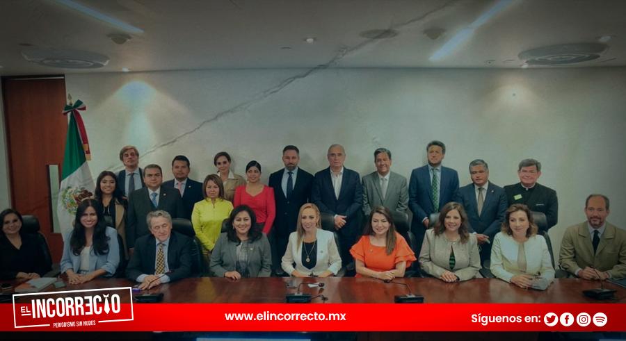 Senadores poblanos del PAN participaron en reunión con líder del partido español Vox