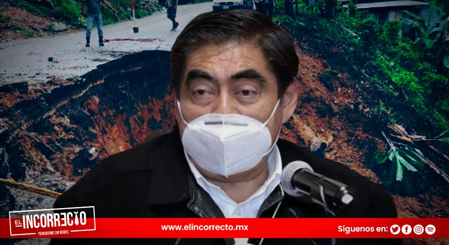 Descarta gobierno de Puebla endeudamiento para atender afectaciones del huracán Grace