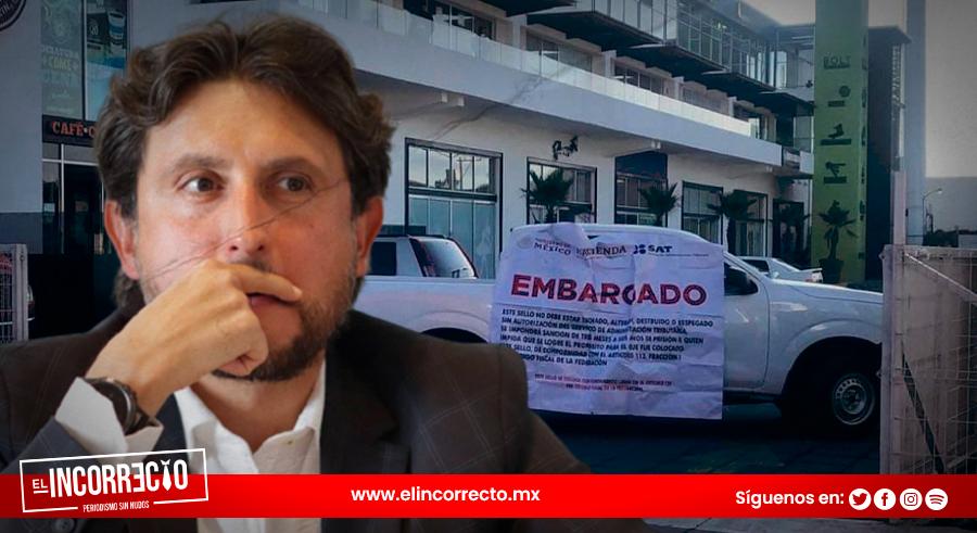 SAT embarga plaza de José Juan Espinosa y oficinas de Nancy de la Sierra (+FOTOS y VIDEO)