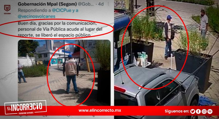 Exhiben simulación de elementos de Claudia Rivera al atender reportes ciudadanos