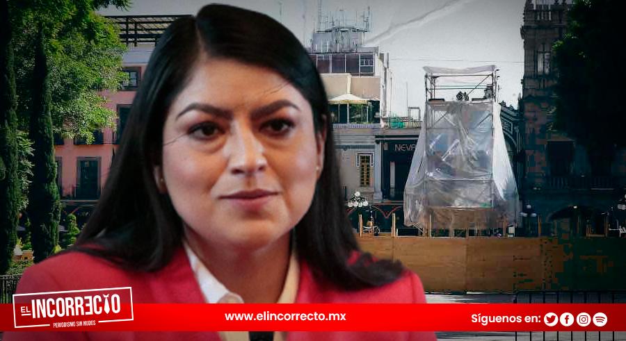 Claudia Rivera dará el Grito de Independencia con el zócalo en obra negra