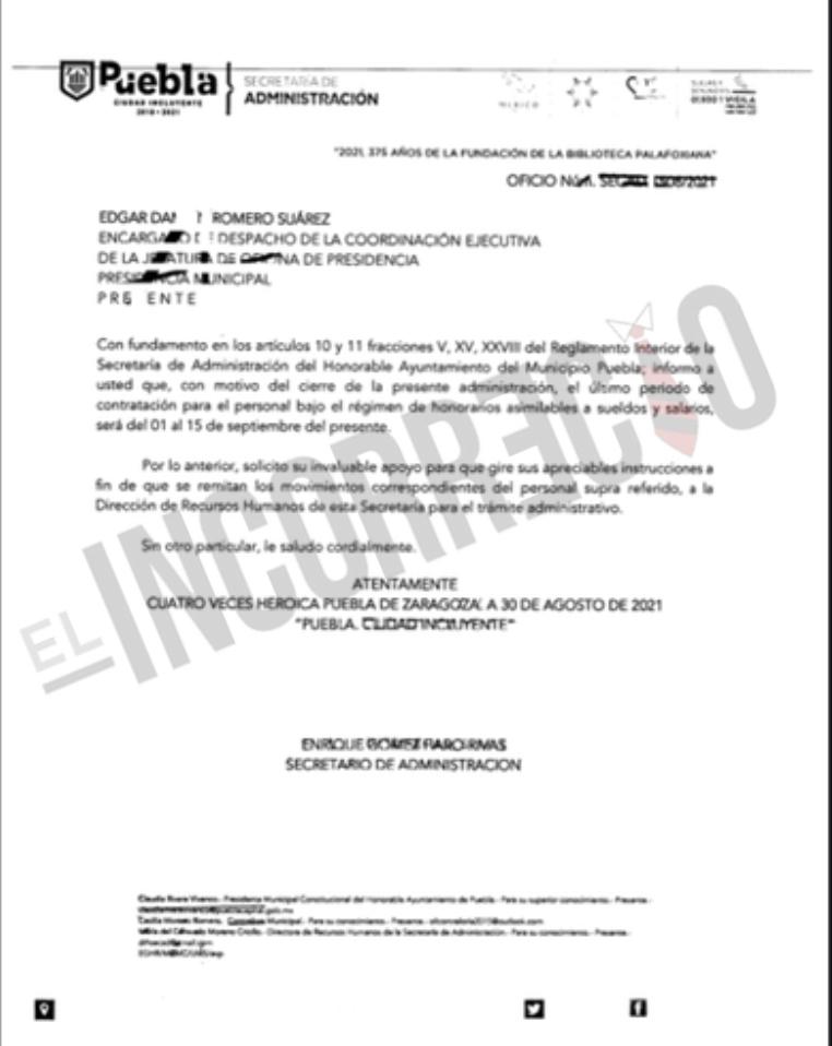 A un mes de que concluya su gobierno, Rivera Vivanco ordena despido masivo de trabajadores por honorarios (+Documento)