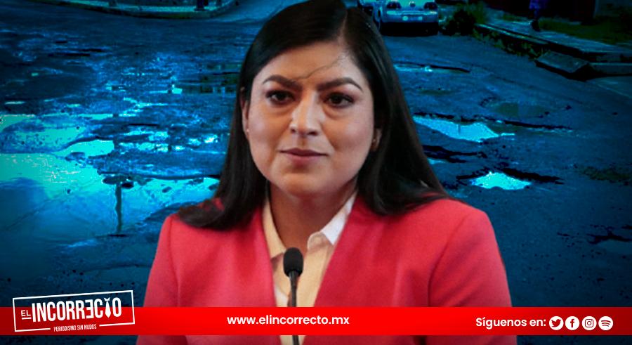 Claudia Rivera se burla de reportes ciudadanos por baches (+VIDEO)