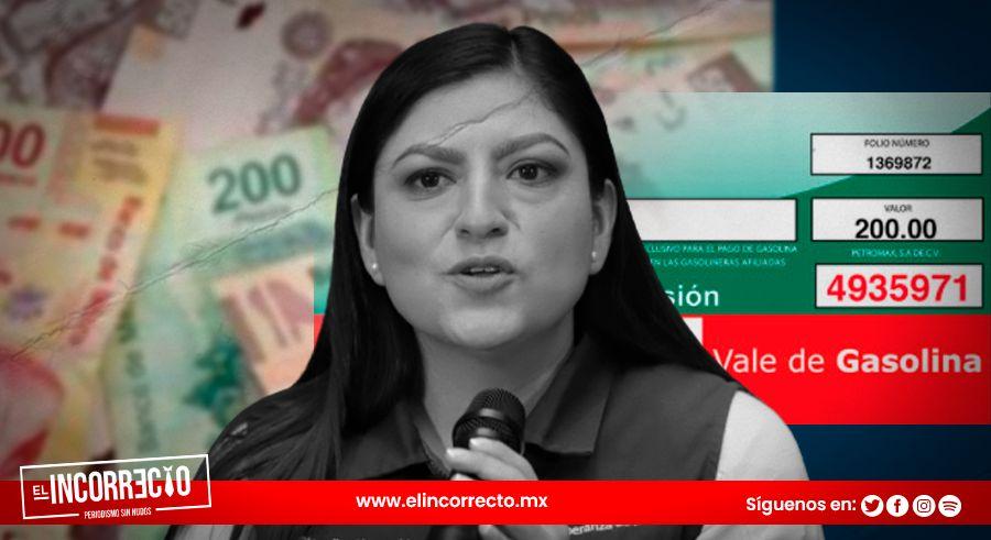 Claudia Rivera gastó 159 millones de pesos en vales de gasolina en su último año