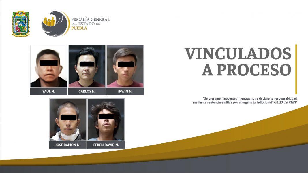 Por robo agravado, cinco vinculados a proceso detenidos en la capital