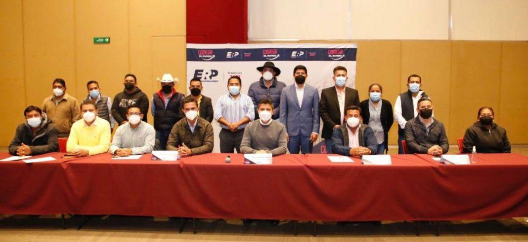 Eduardo Rivera Pérez promueve trabajo conjunto con sus homólogos del PRD Puebla