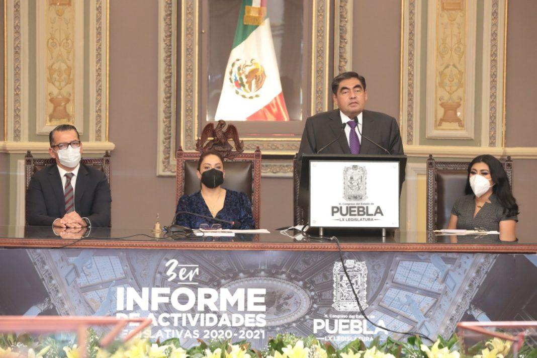 LX Legislatura garantizó la vida institucional y pública de Puebla:MBH