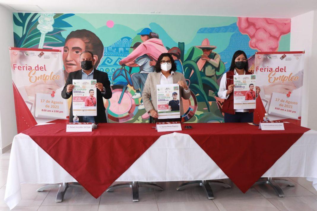 San Andrés Cholula recibirá la feria nacional del empleo para jóvenes e inclusión laboral